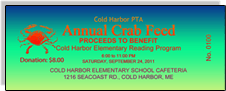 Cold Harbor PTA - Annual Crab Feed - Blue-Green Gradient Sample Ticket