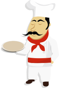 Chef Holding Plate - Clip Art