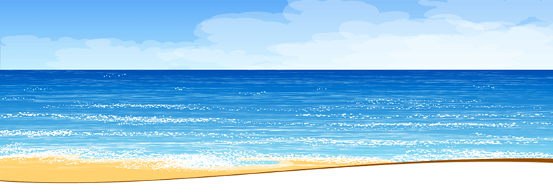 Beach, Ocean, and Blue Sky - Background Image
