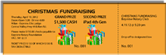 Christmas Fundraising - Grand Prize $1,500 Cash - Second Prize iPad 4th Gen - Sample Ticket