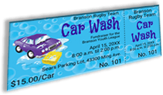Branson Youth Rugby League - Team Car Wash - Sample Ticket