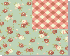 Quilt Pattern, with Flowers and Plaid Design