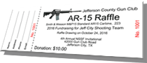 Jefferson County Gun Club - AR-15 Raffle - Sample Ticket