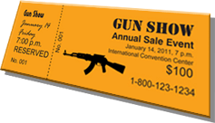 Gun Show - Annual Sale Event - Sample Ticket