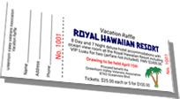 Royal Hawaiian Resort - Vacation Raffle Sample Ticket