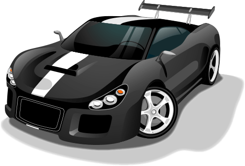 New Sports Car - Clip Art