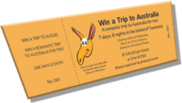 Win a Trip to Australia - A Romantic Trip to Australia for Two - Sample Ticket