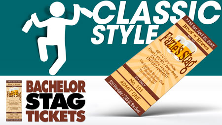Classic Style templates available for Bachelor Party tickets