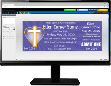 Create church-themed tickets with our easy-to-use online ticket editor!
