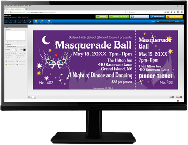 Create danec-themed tickets with our easy-to-use online ticket editor!