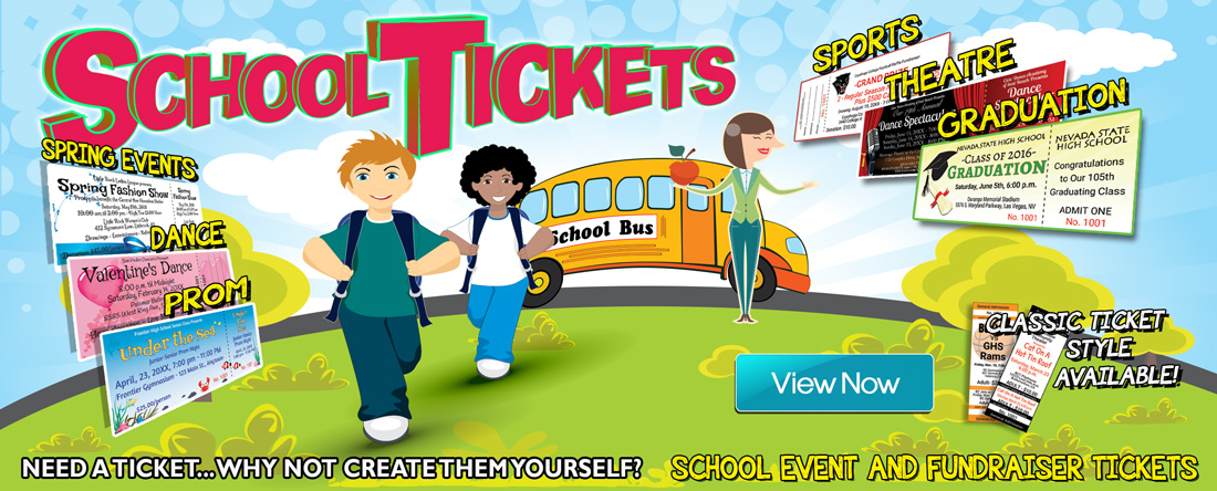 School Event Ticket Printing